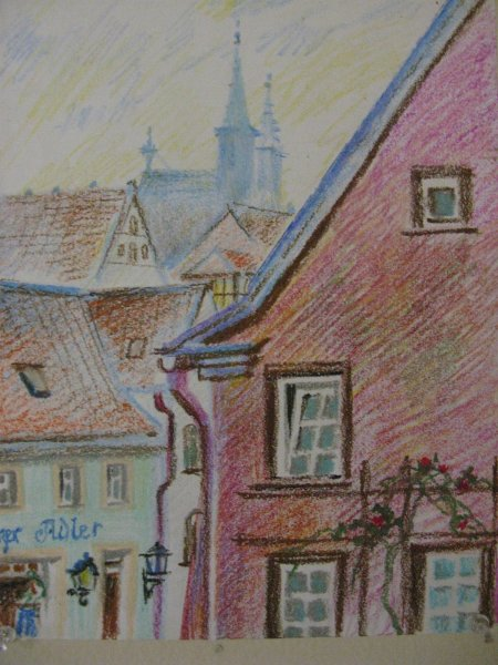 rothenburg-germany oil pastel